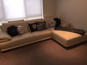 """Leather Lounge and Chaise Nick Scali """"Chanel"""" Revesby Heights Bankstown Area Preview"""