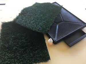 DOG / PUPPY TRAINING TOILET  LOO WITH 2 GRASS MATS & ATTRACTANT Flagstaff Hill Morphett Vale Area Preview