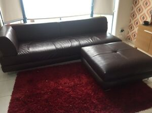 Brown leather like couch Carrum Downs Frankston Area Preview