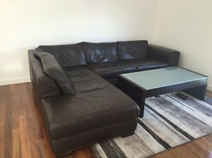 Brown Leather Sofa Keilor Downs Brimbank Area Preview
