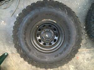35 inch tyres muddies Goodyear wrangler, patrol Nissan Eden Park Whittlesea Area Preview