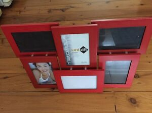 Deep Red 6-in-1 metal collage photo frame - 6 x 4 cheap Woy Woy Gosford Area Preview