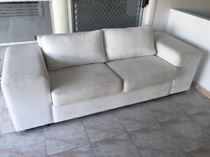 2 seater white couch Ashmore Gold Coast City Preview