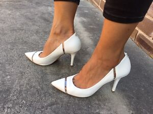 GUESS WHITE LEATHER SHOES Sz7 $35 Arncliffe Rockdale Area Preview