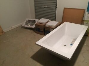 URGENT SELL Toilet pans x4, 1800 bath and S/S Laundry tub Cecil Hills Liverpool Area Preview