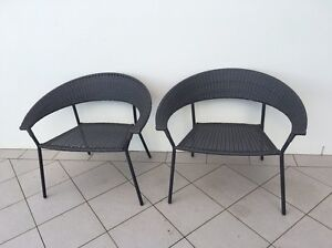 Black wicker outdoor chairs Seaforth Manly Area Preview