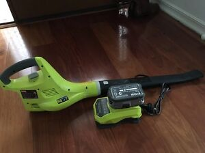 Ryobi Li-ion blower with battery and charger Beaumaris Bayside Area Preview