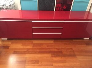 ikea tv bench red Eastwood Ryde Area Preview