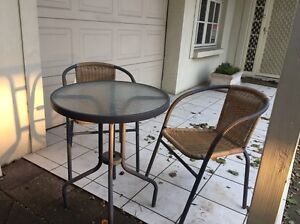 Small outdoor glass table perfect for verandah Malvern Unley Area Preview