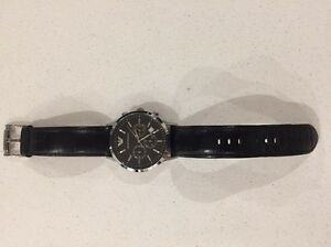 Genuine Armani Black Leather Strap Watch Indooroopilly Brisbane South West Preview