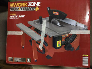New Work Zone titanium 1200w table saw Chatswood Willoughby Area Preview