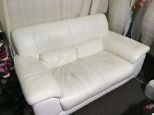 Must go!!!!!! pure leather sofa with delivery Spotswood Hobsons Bay Area Preview