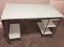 Glass Top Office Desk  - Very Good Condition Belrose Warringah Area Preview