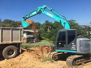 14t excavator for hire with operator, earthmoving, digger, landscaping Byron Bay Byron Area Preview