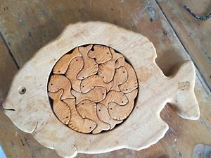 Wooden fish puzzle Randwick Eastern Suburbs Preview