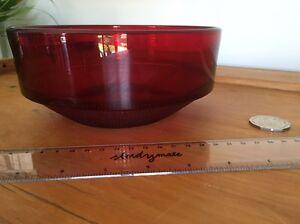 Red glass bowl Birmingham Gardens Newcastle Area Preview