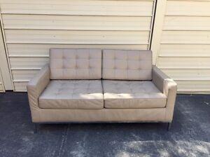 Florence Knoll Replica leather 2 seater sofa coffee color Mosman Mosman Area Preview