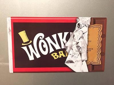 GIANT Willy Wonka Bar Golden Ticket Chocolate Bar Fridge Magnet