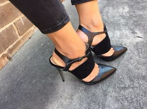 OXFORD LEATHER HEELS AS NEW Sz7 $35 Arncliffe Rockdale Area Preview