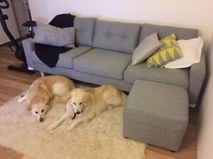 Grey 3 Seater Sofa With Ottoman Woollahra Eastern Suburbs Preview