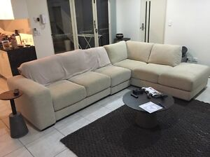 "(Must go ASAP) Nick Scali ""Chicago"" 3 seater and chaise Holland Park Brisbane South West Preview"