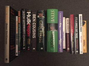 Set of 15 various Sports Biography Books Essendon Moonee Valley Preview