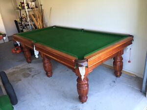 8x4 Supreme Teak/Green Slate Pool Table Forest Glen Maroochydore Area Preview