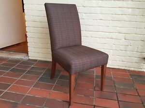 6x Custom designed upholstered dining chairs Castlecrag Willoughby Area Preview