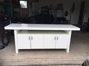 White tv unit / buffet Sippy Downs Maroochydore Area Preview