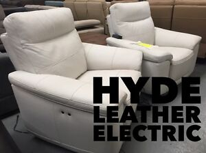 Full Leather Electric Recliner Pair - SALE Dandenong South Greater Dandenong Preview