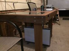 990x990x720 premium hard wood/railway sleeper, glass, steel Sanctuary Point Shoalhaven Area Preview