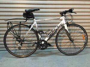FLAT BAR ROAD BIKE 18 SPEED + HELMET, U LOCK AND MANY ACCESSORIES North Melbourne Melbourne City Preview