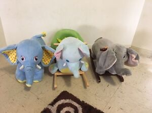 Rocking elephants and battery operated elephant Green Valley Liverpool Area Preview
