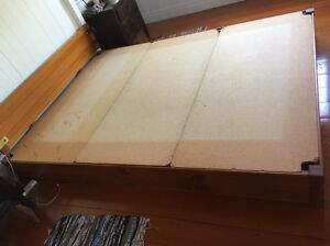 Japanese style king bed, solid wood frame (also suits queen mattress) Annerley Brisbane South West Preview