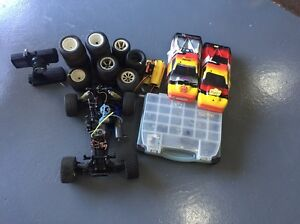 Traxxas rustler nitro buggy 2 cover electric start lots of spares Raby Campbelltown Area Preview