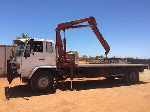 Isuzu 9tn 1989 Flatbed Truck 5 tn Hiab Como South Perth Area Preview