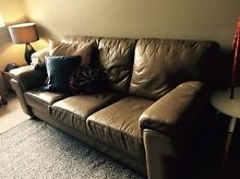 Three seater leather lounge Tempe Marrickville Area Preview