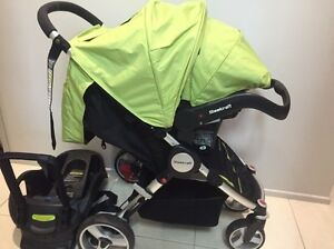 Steelcraft Agile Stroller + Infant Car Carrier Capsule Surfers Paradise Gold Coast City Preview