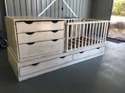PRICE DROP!!! Baby cot with drawers and change table section Alstonville Ballina Area Preview