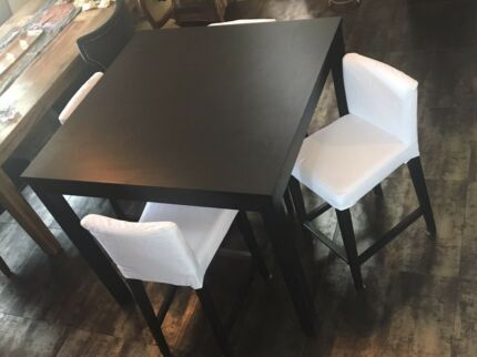 Timber dining table with 4 matching chairs