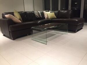 Leather modular lounge Burswood Victoria Park Area Preview