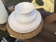 White porcelain plate set for 4 North Narrabeen Pittwater Area Preview