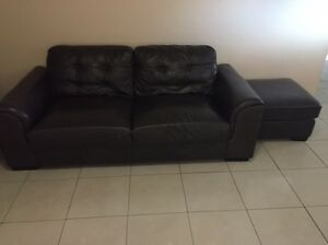 Leather chaise 3 seater + 2 seater and ottoman Punchbowl Canterbury Area Preview
