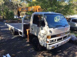 ISUZU 1989 ELF/NPR250 CRANE TRUCK Greenbank Logan Area Preview
