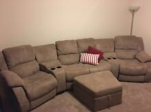 4 Seat Theatre Couch, with storage ottoman as new Brookdale Armadale Area Preview