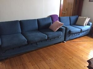 10 seater lounge good condition blue colour 8 months old as new Turrella Rockdale Area Preview
