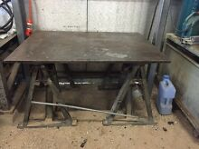 PRICE REDUCTION Solid welding bench table with 22mm thick steel top!! Lewiston Mallala Area Preview