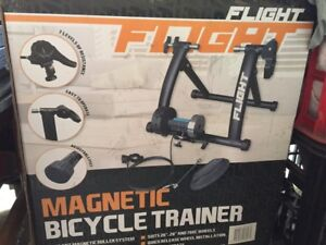 Flight magnetic bicycle trainer