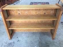 SOLID PINE and cane timber bookshelf/bookcase (vgc) Invermay Launceston Area Preview