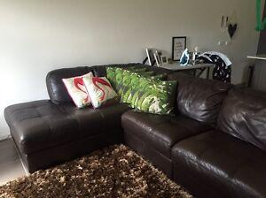 Leather couch Cornubia Logan Area Preview